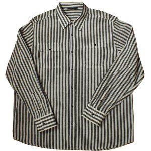 RocaWare Men's Black and White Stripe Dress Shirt